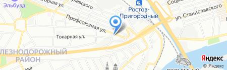 Синдика на карте Ростова-на-Дону