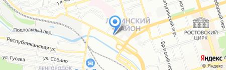 Строительный на карте Ростова-на-Дону