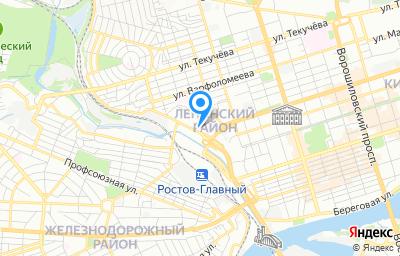 Местоположение на карте пункта техосмотра по адресу г Ростов-на-Дону, пр-кт Сиверса, д 12В