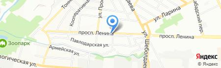 Колор на карте Ростова-на-Дону