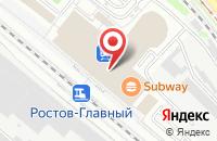 Схема проезда до компании Феникс в Ростове-На-Дону