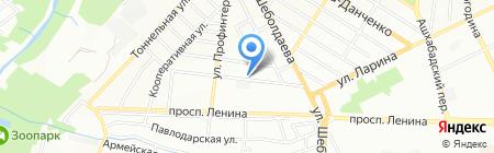 Слава на карте Ростова-на-Дону