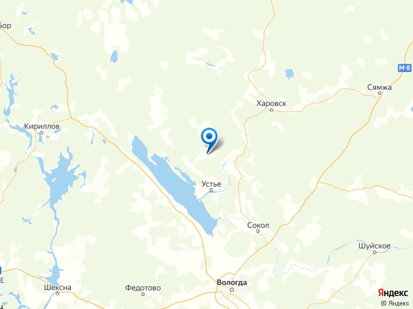 село Заднее на карте