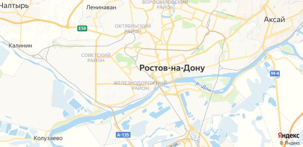 Ростов-на-Дону на карте