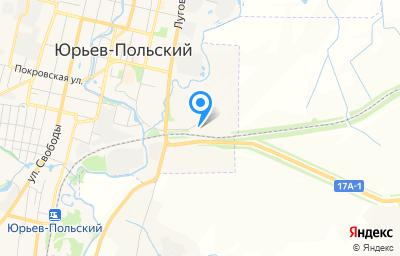 Местоположение на карте пункта техосмотра по адресу Владимирская обл, г Юрьев-Польский, проезд Автотранспортный, д 1Б