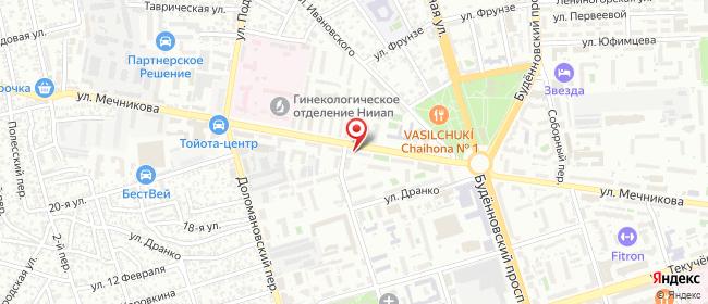 Карта расположения пункта доставки Ростов-на-Дону Мечникова в городе Ростов-на-Дону
