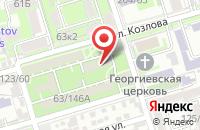 Схема проезда до компании Южная Фасадная Компания  в Ростове-На-Дону