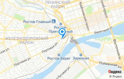 Местоположение на карте пункта техосмотра по адресу г Ростов-на-Дону, ул Портовая, д 31