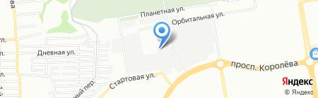 Вечерия на карте Ростова-на-Дону