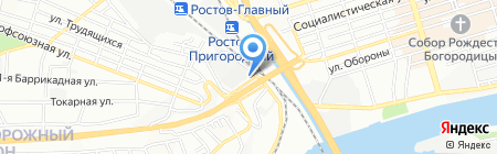 Трио Строй на карте Ростова-на-Дону