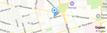 Аптека №250 на карте Ростова-на-Дону