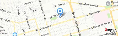 Югпромсвязь на карте Ростова-на-Дону