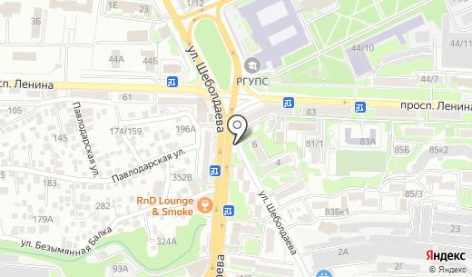 QIWI. Схема проезда в Ростове-на-Дону
