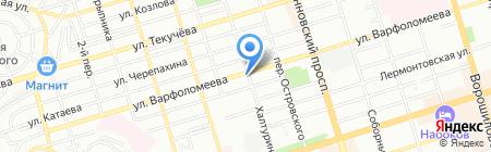 Киш Миш на карте Ростова-на-Дону