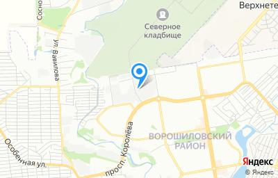 Местоположение на карте пункта техосмотра по адресу г Ростов-на-Дону, пр-кт Королева, д 7А