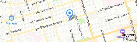 Хоккейная линия на карте Ростова-на-Дону