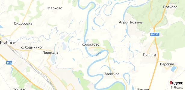 Коростово на карте