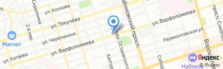 Монблан на карте Ростова-на-Дону