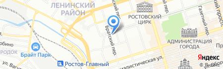 ТСЖ в Братском переулке на карте Ростова-на-Дону