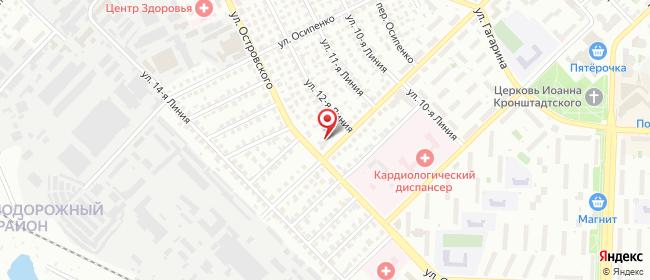Карта расположения пункта доставки Рязань Ленинского Комсомола в городе Рязань