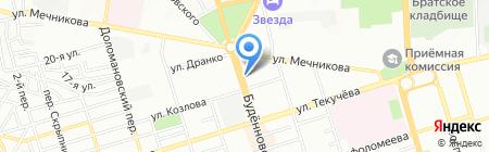 Алые Паруса на карте Ростова-на-Дону