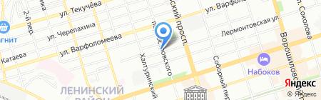 Аквамарин Тур на карте Ростова-на-Дону