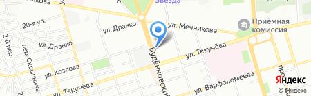 Банкомат Ханты-Мансийский банк Открытие на карте Ростова-на-Дону