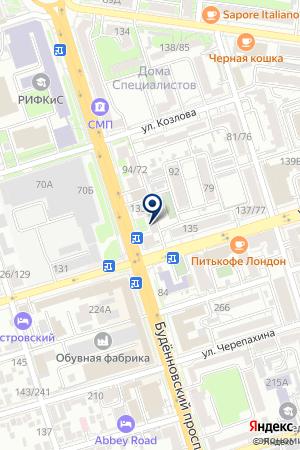 Ломбард Кредит-Юг на карте Ростова-на-Дону