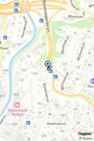 Восточная лепешка на карте Сочи