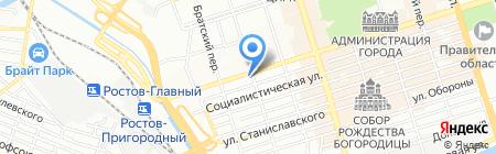 Нескучный сад на карте Ростова-на-Дону