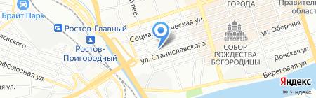 Адвокат Арутюнов Х.Г. на карте Ростова-на-Дону