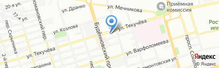 Орион на карте Ростова-на-Дону