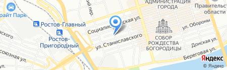 УССТРОЙ на карте Ростова-на-Дону