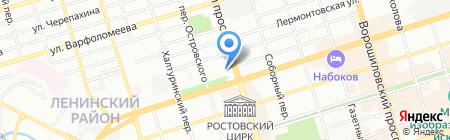 Терминал Банк Петрокоммерц на карте Ростова-на-Дону
