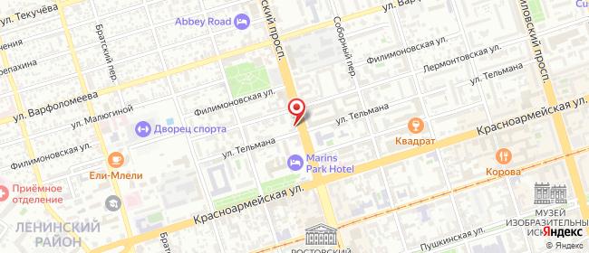 Карта расположения пункта доставки Ростов-на-Дону Буденновский в городе Ростов-на-Дону
