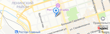 КАМЕЛОТ на карте Ростова-на-Дону