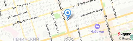 Бордо на карте Ростова-на-Дону