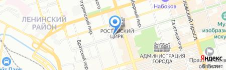Олимпик-Тур на карте Ростова-на-Дону