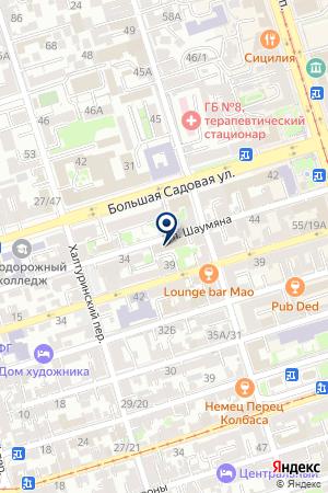 ТФ СЛАВА на карте Ростова-на-Дону