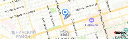 Средняя общеобразовательная школа №43 на карте Ростова-на-Дону