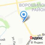 Южный на карте Ростова-на-Дону