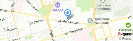 Эталон на карте Ростова-на-Дону