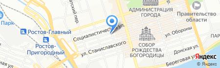 Донской подарок на карте Ростова-на-Дону