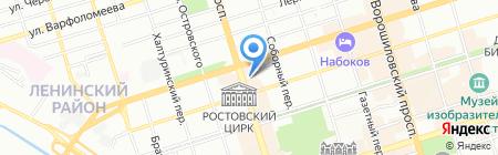 Имплозия на карте Ростова-на-Дону