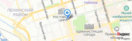 Пушкино на карте Ростова-на-Дону