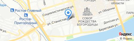 Южное Туристическое Бюро на карте Ростова-на-Дону