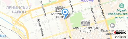 Марс на карте Ростова-на-Дону