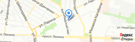 Детский сад №164 Улыбка на карте Ростова-на-Дону