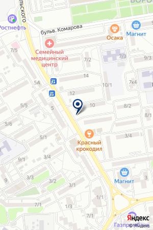 Продуктовый магазин на ул. Добровольского на карте Ростова-на-Дону