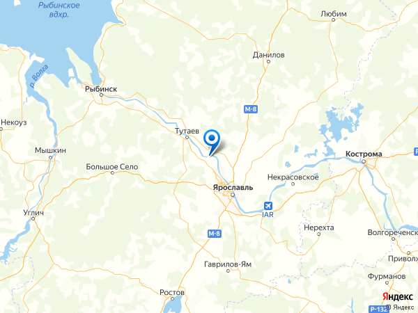 посёлок Красный Холм на карте